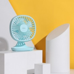 Ventilator de birou cu 3 trepte de viteza , Baseus Pudding , albastru