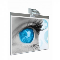 Whiteboard Magnetic Ceramic SMIT 127x200 cm (16:10) suprafata de proiectie 175 x 112