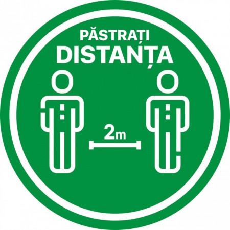 Autocolant Cerc Pastrati Distanta 2m 20 x 20 cm
