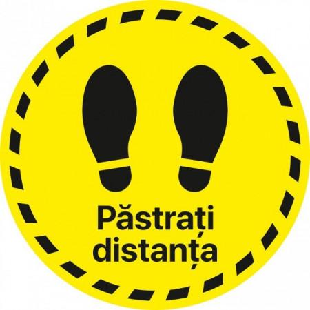 Autocolant Cerc Pastrati Distanta 30 x 30 cm