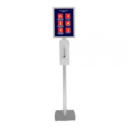 Stand Dezinfectant Profil Oval cu Dozator Automat