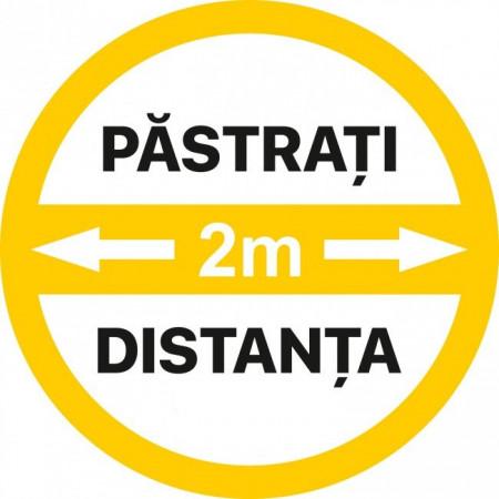 Autocolant Cerc Pastrati 2m Distanta 20 x 20 cm
