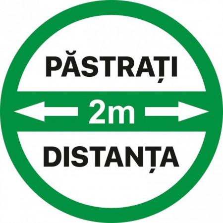 Autocolant Cerc Pastrati 2m Distanta 30 x 30 cm