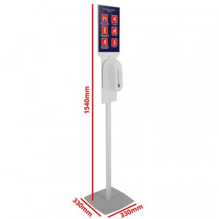 Stand Dezinfectant Profil Rectangular cu Dozator Automat si Header