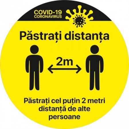 Autocolant Cerc Pastrati Distanta 2m Alte Persoane 30 x 30 cm