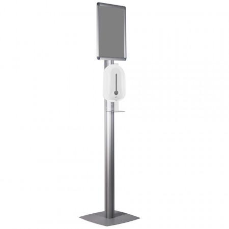Stand cu dozator automat cu rezervor pentru solutie dezinfectare maini