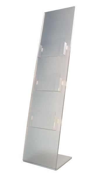 Stand din plexiglas pentru brosuri, pliante, reviste