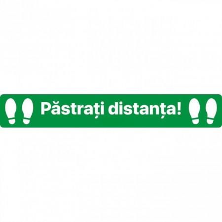 Autocolant Linie Pastrati Distanta 100 x 15 cm