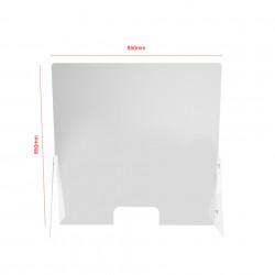 Panou protectie drept din plexiglas 3mm ✅salon manichiura ✅receptie hotel ✅birou ✅showroom