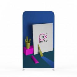 Pop-up Textil Perete Drept 100x230 Print One Side