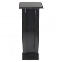 Pupitru negru, pentru conferințe, din plexiglas și aluminiu