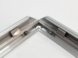 Rama click Poster Frame din aluminiu 32, colturi drepte A0