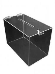 Urnă transparentă din plexiglas, cutie pentru donații , Urna cub 150mm