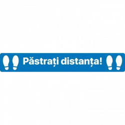 Autocolant Linie Pastrati Distanta 50 x 10 cm