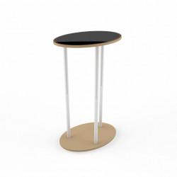Pop-up Desk Oval 60 x 102 cm Textil Print One Side