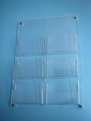 Suport pentru pliante și reclame, plastic transparent, prindere pe perete