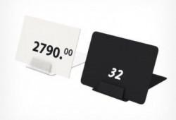Suport pentru etichete prevazut alcatuit dintr-o talpa stabila prevazuta cu un canal care permita amplasarea etichetelor cu o grosime de pana la 1 mm grosime. Permite plasarea etichetelor la un unghi de 90° fata de suprafata de plasare. Culoare: transpare