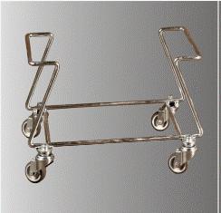 Suport pe rotile pentru cosuri de cumparaturi 20-22 lt