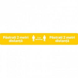 Autocolant Linie Pastrati 2 metri Distanta 50 x 10 cm