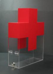 Urnă din plexiglas  colorata, , securizată cu yală