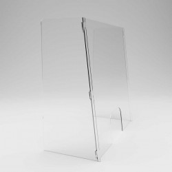 Panouri separatoare plexiglas format U inclinat