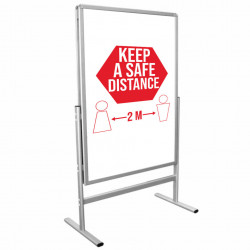 People Stopper Swing Star, Pavement Sign, Format Print A1
