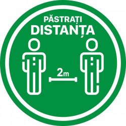 Autocolant Cerc Pastrati Distanta 2m 30 x 30 cm