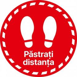 Autocolant Cerc Pastrati Distanta 20 x 20 cm