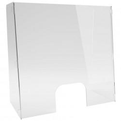 Panou Protectie Inclinat Plexiglas 3mm format U ✅magazine ✅showroom ✅farmacie ✅birou ✅receptie hotel