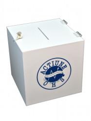 Urnă transparentă din plexiglas, cutie pentru donații , Urna cub 400mm