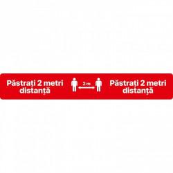 Autocolant Linie Pastrati 2 Metri Distanta 100 x 15 cm