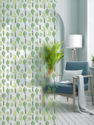 Autocolant transparent cu aspect mat model Cactus