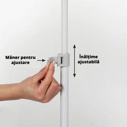 Info Board cu Picior Reglabil si Rama Slide-in cu Afisare Dubla Fata