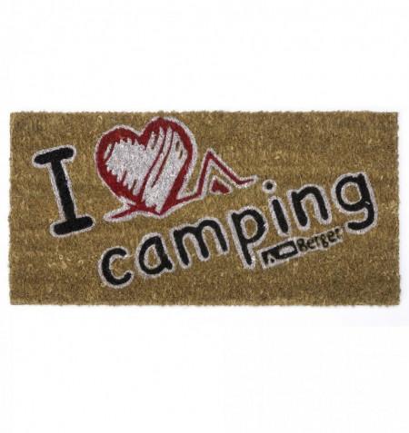 """Covoras intrare """"I love camping"""""""