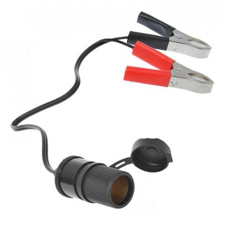 Priza bricheta cu clesti de conectare la baterie 12/24V 16A