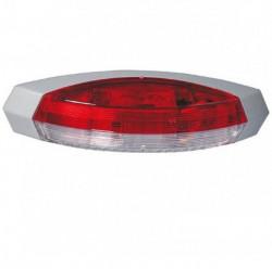 Lampă laterală gabarit LED pentru rulote (122 x 39 mm)