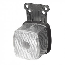 Lampa pozitie fata (alb) cu suport si reflector 66 x 62 mm