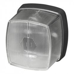 Lampa de gabarit remorci, pozitie fata (alb) 66 x 62 mm