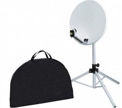 Antenă satelit parabolică 65 cm cu sat finder, trepied si LNB inclus