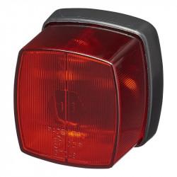 Lampa de gabarit remorci, pozitie spate (rosu) 66 x 62 mm