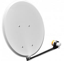 Antenă de satelit parabolică 65 cm cu brat, LNB si 10m cablu coaxial