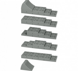 Cale de nivelare modulare cu husa
