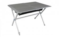 Masă pliabilă aluminiu blat rulant (115 x 78,5 cm)