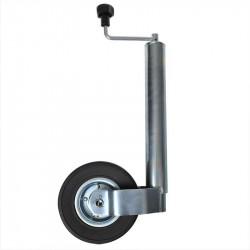 Roata de manevra cu picior, teava de 60mm / roata cauciuc plin 220 x 65 mm, janta metal