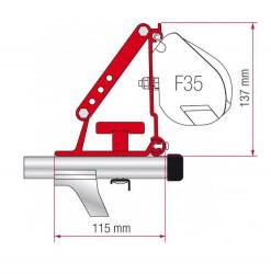 Adaptor Fiamma F35, F45, pentru bare transversale