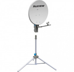 "Antenă satelit parabolică 75 cm ""Precision"" cu trepied, sat finder incorporat, LNB si cablu coaxial"