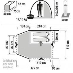 Cort gonflabil autorulota/van Liberta-XL