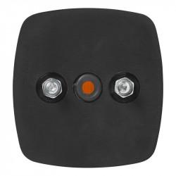 Lampa de gabarit remorci, pozitie lateral (portocaliu) cu reflector, 66 x 62 mm