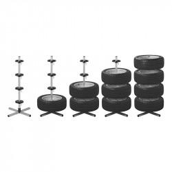 Suport Metalic din Aluminiu pentru Depozitare 4 Roti, Jante cu Anvelope Auto, Capacitate 100kg