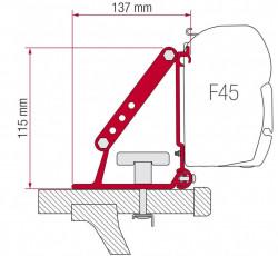 Adaptor Fiamma pentru bare transversale